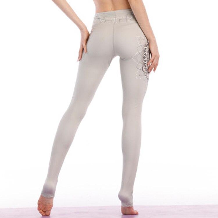 2143f1923cf81 Unique design Lotus Print Yoga Pants High waist stretchy women yoga  leggings Black Datura print workout gym leggings heart pants
