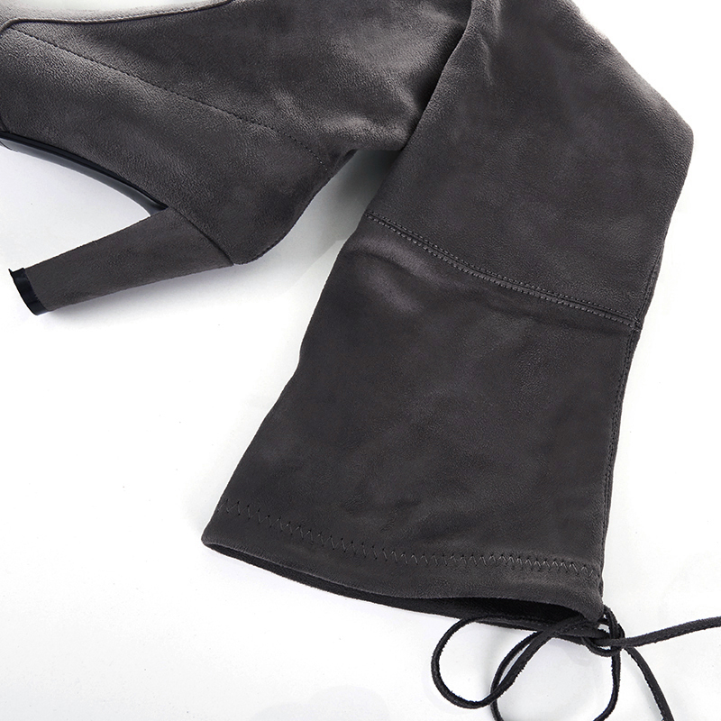Image 5 - Thigh High Boots Women Suede Over the Knee Boots High Heel Sexy Party Wedding Overknee Boots Fall Winter Shoes Black Grey-in Over-the-Knee Boots from Shoes