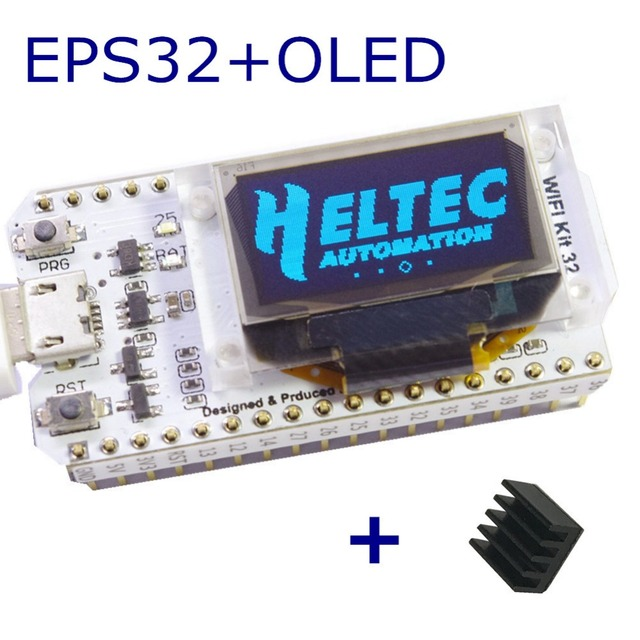 WIFI ESP32 Development Board  0.96 Inch Blue OLED Display Bluetooth internet of things for Arduino with heat sink