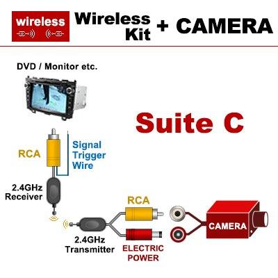 Sinosmart проводной HD автостоянка камера заднего вида для VW Bora CC крыло r-зажим линия фаэтон гольф и т. д. Ночного видения - Название цвета: wireless for dvd