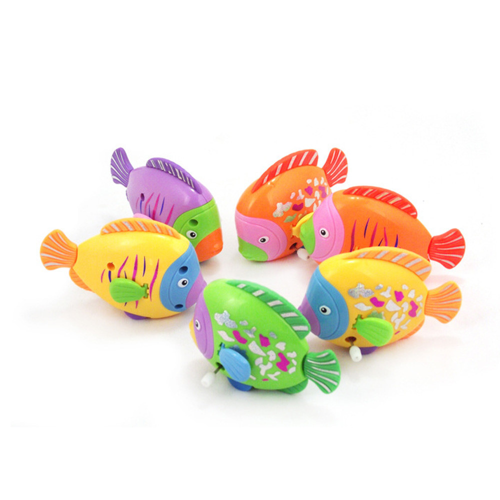 HIINST Chain On The Discus Fish Tail Moving ChildrenTake A Bath Toy On The Chain Of Colorful Fish Drop Ship Aug12