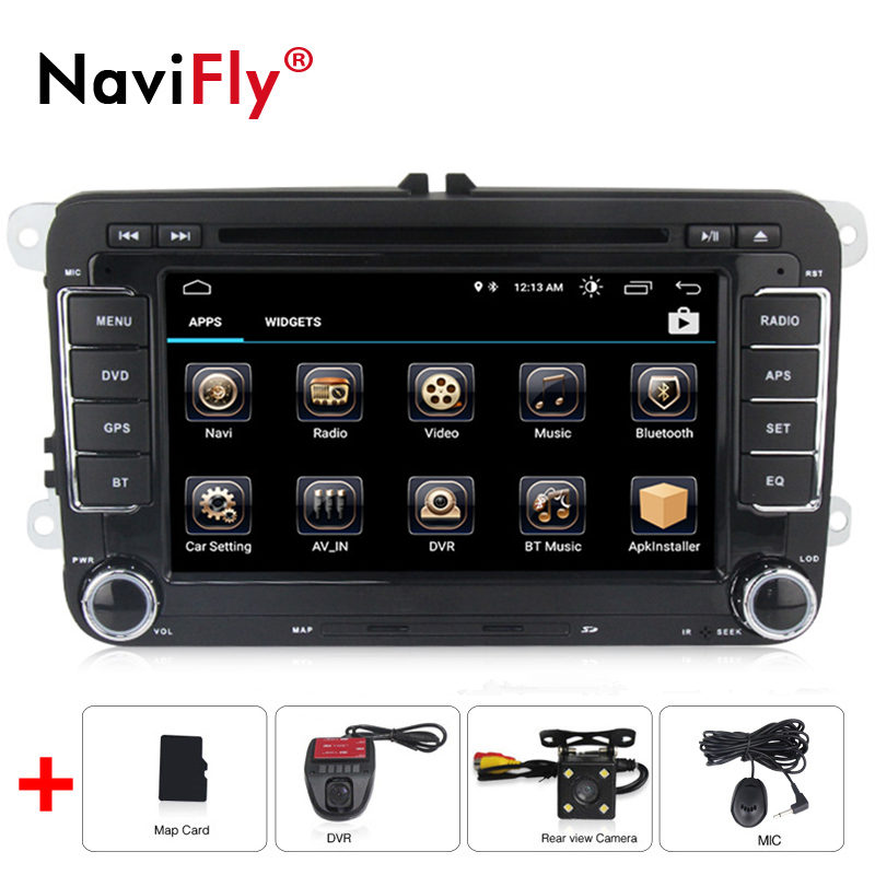 navifly Android 8.0 Quad Core Car DVD GPS Navi for Volkswagen VW Skoda Octavia