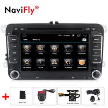 Android 8.0 Quad Core Car DVD GPS Navi for Volkswagen VW Skoda Octavia golf 5 6 touran passat B6 jetta polo tiguan player audio(China)