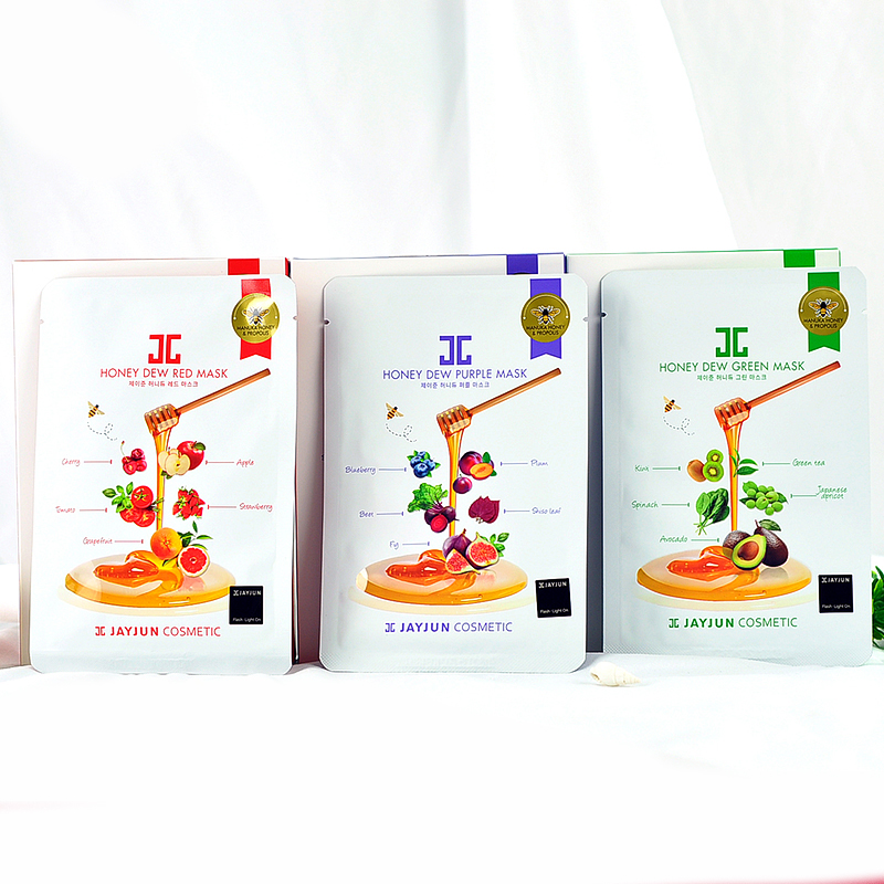 15pcs/3bag  JAYJUN Cosmetic Honey Dew Mask Hydrating Moisturizing Mask Repair Damaged Skin Korea Facial Mask