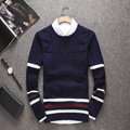 2016 Autumn Long-Sleeved One-Neck Men's Sweater Black Man 100 % Cotton Sweaters Plus Size Men Pullover