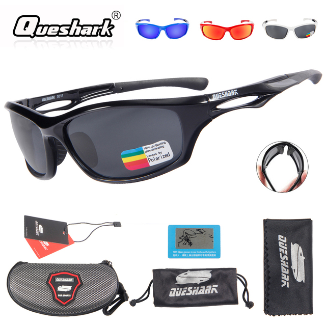 32aa93f66a Queshark Men Women Cycling Polarized Sunglasses Bike Glasses TR90 Uv400 HD  Lens Bicycle Goggles Fishing Glasses Riding Eyewear