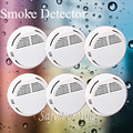 Free shipping Usage fire High quality Home Burglar Security Alarm FOR GSM alarm system NEW White 6pcs wireless smoke detector