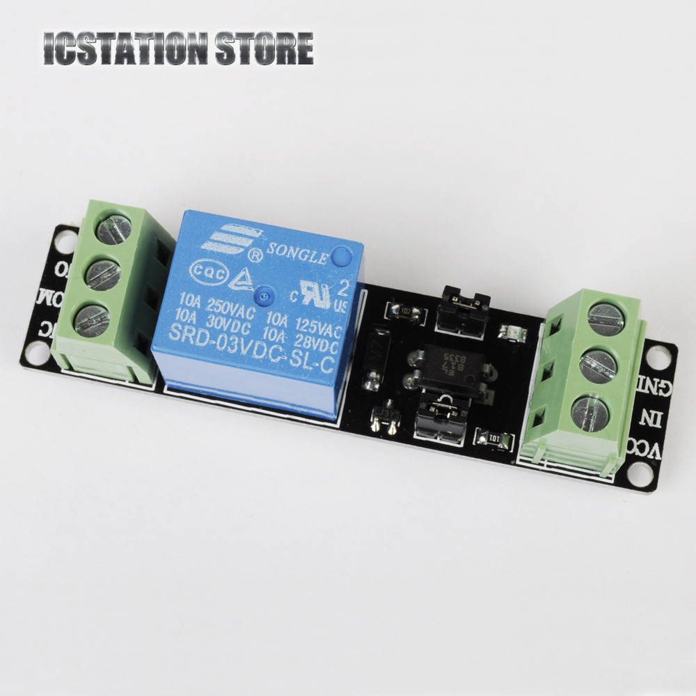 цены  10Pcs 3V Relay High Level Driver Module Optocoupler Relay Module DC 3V/3.3V for Arduino