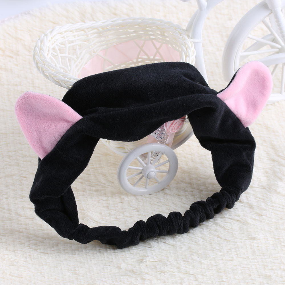 Hair Care & Styling 1pcs Cute Convenient Fashion Women Elastic Grail Cat Ears Headdress For Washing Face Hair Braiders Accessories Party Beauty Gift Beauty & Health