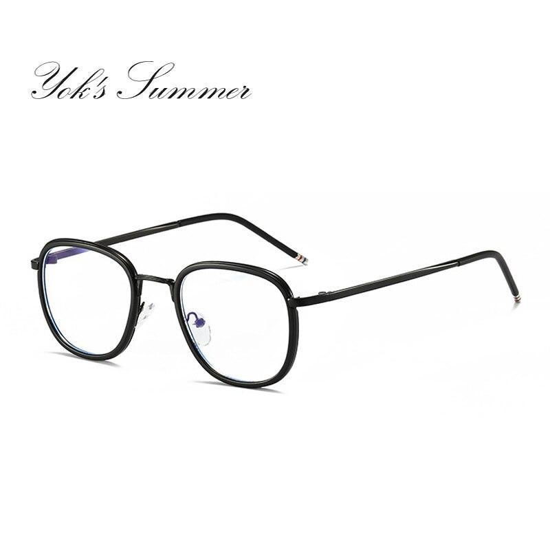 Yok летние Анти Blue Ray компьютер игровой очки Для женщин Для мужчин тонкие круглые мет ...