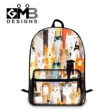 1pcs Fashionable Animal Printed Canvas Backpack Cartoon Letter Graffiti Schoolbag Satchel Outdoor Sports Travel Bag Men Mochila