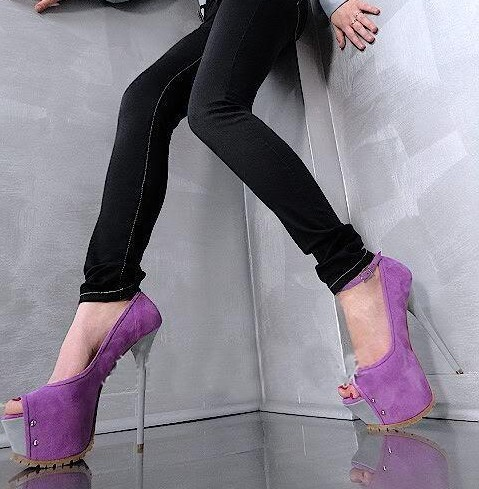 Fashion high thin heel peep toe black blue purple sexy style shoes for woman in spring and autumn big size 35-41Fashion high thin heel peep toe black blue purple sexy style shoes for woman in spring and autumn big size 35-41