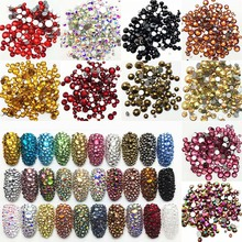 High Quality Flat Bottom Scattered Rhinestone Crystal Glass Stone 3D Nail Art Decoration Sewing And Cloth Clothing