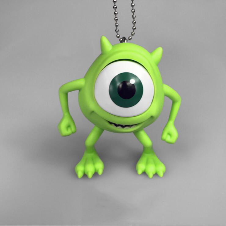 1pcs/set Free Shipping Monsters Monster Mike Wazowski Keychian Figure Toy For Kids Gift