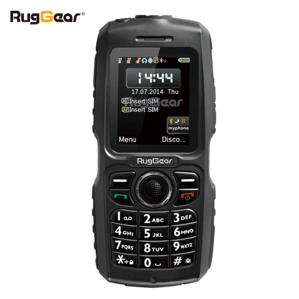 waterproof phone rugged cell phone RugGear RG100 Unlocked military cell phone