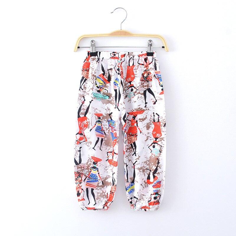 Summer children's Anti-mosquito loose lantern   pants   boys and girls cotton soft   Pants     Capris