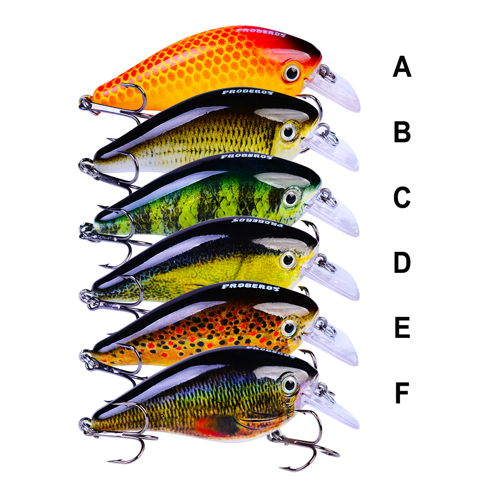 """6pc Fishing lure Exported to Japan 3/""""-7.6cm//12.75g Crankbait 6 color 6# Hook"""