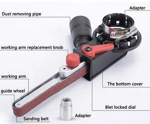 """Image 3 - 4 """"насадки для болгарки шлифовальный ремень переходная головка конвертировать с шлифовальными лентами для электрической угловой шлифовки Деревообработка шлифовальные электроинструменты"""