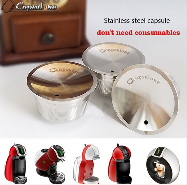 capsulone stainless steel metal dolce gusto machine compatible refillable reusable gift nescafe