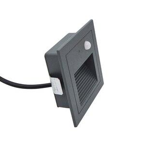 Наружный датчик движения для человеческого тела, светодиодный настенный светильник для лестницы, водонепроницаемый светильник для ног, 3 В...