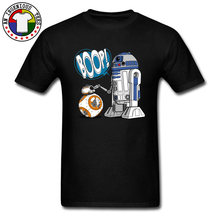 Star Wars BB-8 Resistance Tshirt AT-AT Millenium Falcon Robot Design Funny T Shirt Star Wars Yoda Darth Vader Tshirts Men(China)