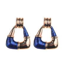 New Ladies Earrings Exaggerated Colored Alloy Cutout Triangle