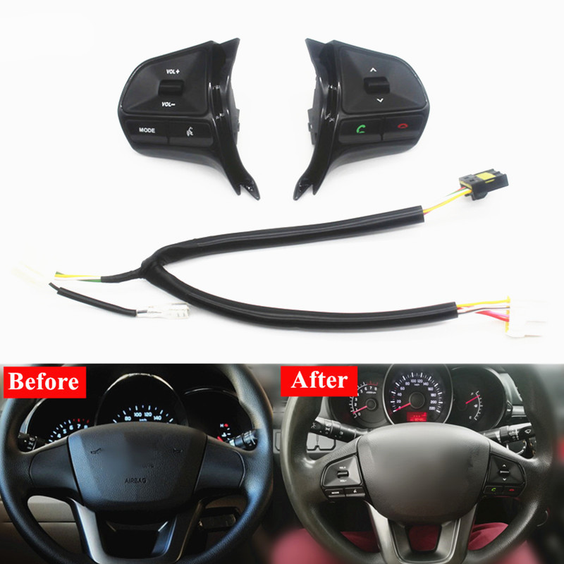 Image 2 - for KIA RIO 2011 2014 multifunctional steering wheel control button  Audio phone volume switch for bluetooth car accessories-in Steering Wheels & Steering Wheel Hubs from Automobiles & Motorcycles