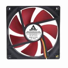 2pcs/lot Gdstime 12V 3 Pin 9 cm 90 x 25mm 90mm CPU Heatsinks Cooler Fan DC Cooling Fans