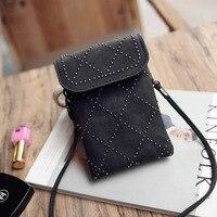 Przyczynowe Torebki Kobiety Dziewczyny Messenger torby torba Moda Damska PU Leather Mini Telefon komórkowy
