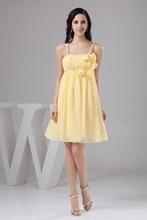 Chiffon A Line Sweetheart Sleeveless Crystals  Knee Length Bridesmaid Dresses Wedding party dresses robe de soiree