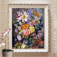 Needlework DIY Cross Stitch Sets For Embroidery Kits Famous Painting Williams Floral Flower Print Counted Pattern