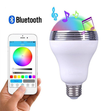 DOITOP 6W Wireless Bluetooth Speakers Smart APP Control Dimmable RGB LED Light Music Bulb Loudspeaker Box Night Lamp B3