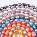 """Envío Libre 8-9mm Patata Perlas de Agua Dulce de Forma Libre Natural Para DIY Collar Bracelat Joyería artesanal Spacer Strand 14"""""""