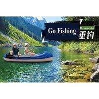 AQUA MARINA, 2 человека, рыболовная лодка, ТОЛСТАЯ ПВХ, надувная лодка каяк, dinghy плот, весло, ножная сумка для насоса, двигатель