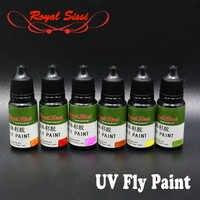 2019hot 2 flaschen bunte fliegen binden UV kleber heilung in sekunden super UV harz fly angeln chemikalien Royal Sissi fly binden material