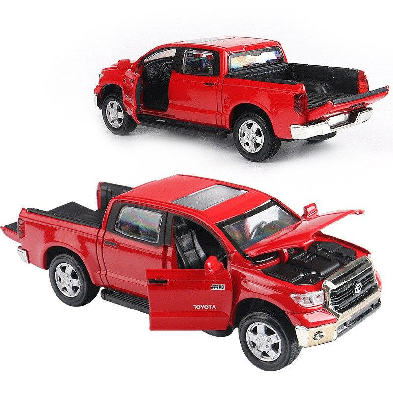 1:32 modèles de voitures en alliage, haute simulation Toyota Tundra, métal coule sous pression, pull back & clignotant et musique, livraison gratuite