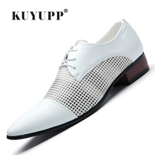 KUYUPP 2016 Enaland Style Men Genuine Leather Shoes font b Oxfords b font Casual Pointed Toe