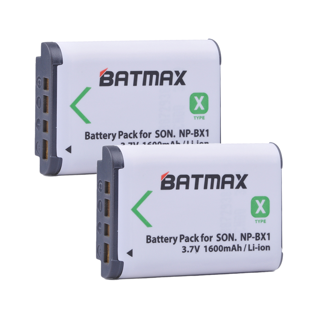 2Pcs NP-BX1 NP BX1 Battery pack (1600mAh) for SONY DSC RX1 RX100 RX100iii M3 M2 RX1R WX300 HX300 HX400 HX50 HX60 GWP88 PJ240E np bx1 replacement 3 6v 1240mah li ion battery for sony sony rx100 rx1 camera white