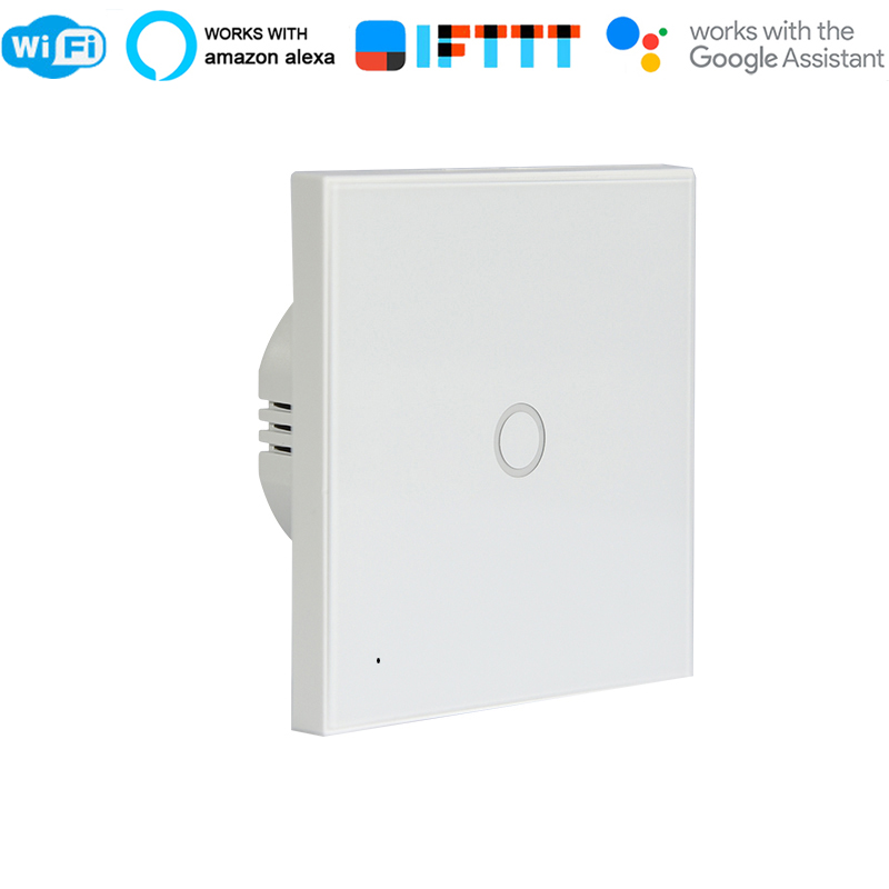 WiFi light switch 1Gang Wall Wifi Light Switch Glass Panel Touch LED Lights Switch for Smart Home Wireless Remote Switch ControlWiFi light switch 1Gang Wall Wifi Light Switch Glass Panel Touch LED Lights Switch for Smart Home Wireless Remote Switch Control