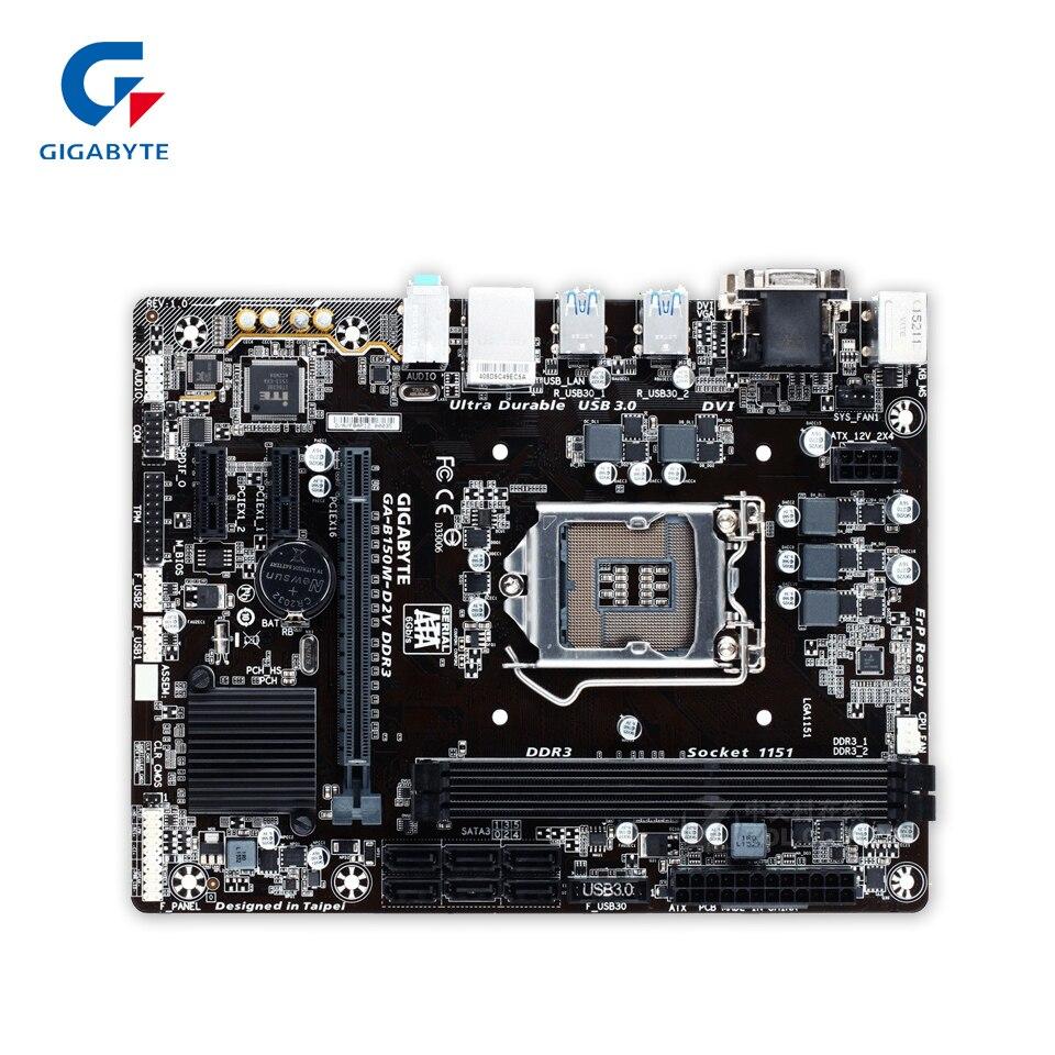 Gigabyte GA-B150M-D2V DDR3 Original Used Desktop Motherboard B150M-D2V DDR3 B150 LGA 1151 i3 i5 i7 Micro-ATX