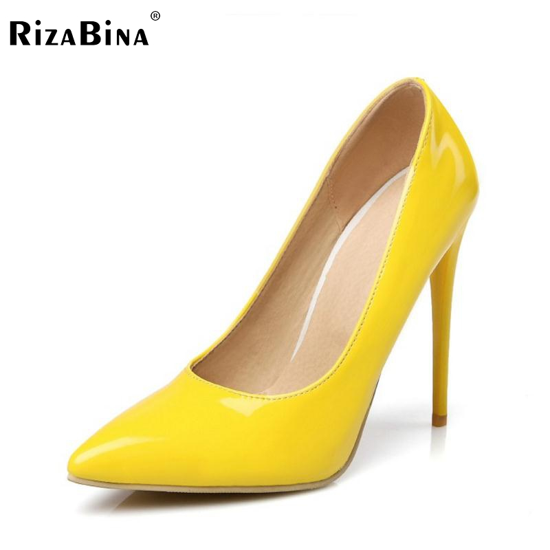 Size 34-47 Spring Big Size Women heel Pumps Sexy Pointed Toe Thin High Heels Shoes Woman Brand New Design Wedding Party Shoes taoffen women high heels shoes women thin heeled pumps round toe shoes women platform weeding party sexy footwear size 34 39
