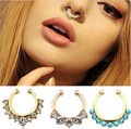 Hot Sale new accessories Variety mix color  Faux Piercing crystal  Nose Studs Body Hoop Nose Ring  for  Female wholesale FN04