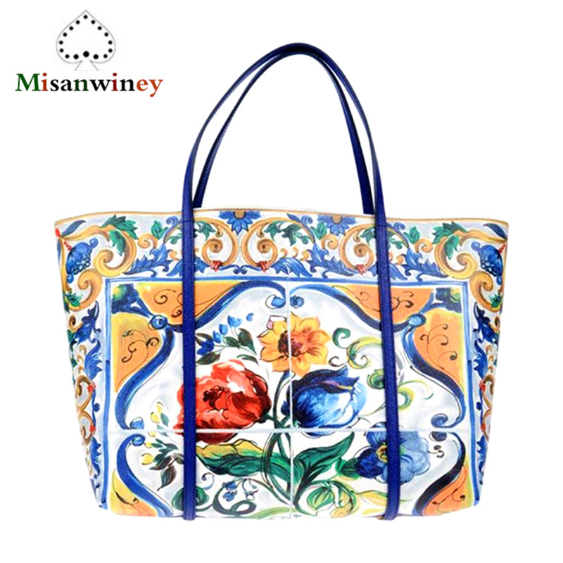 Luxury Italy Brand Sicily Ethnic Women's Bag Genuine Cow Leather Top Quality Designer Platinum Tote Bag Handbag Purse Sac A Main sicily top 10