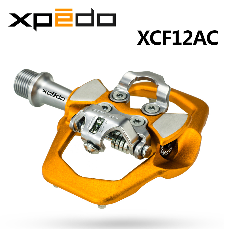 Wellgo Xpedo XCF12AC Ultralight MTB Bike Clipless Pedals with 3 Bearing High Strength alloy Mountain Self-locking Pedal 291g xpedo xcf12ac ultralight 295g mountain bike pedal mtb auto lock bicycle pedals 3 bearing high strength road bike lock pedals