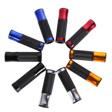 "7/8"" 22mm Motorcycle Handle Bar Grips CNC Aluminum Rubber Gel Motorbike Handlebar Grips 6 colors for option"