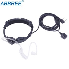 ABBREE Extendable Throat MIC PTT headphone Headset for Kenwood BAOFENG BF 888s UV 5R UV 82 UV 5RE 2 way radio Walkie Talkie uv5r
