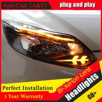 Auto Clud xenon headlights For ford focus 2012 2014 head lamps For Ford Focus H7 xenon HID kit bi xenon lens LED DRL car styling