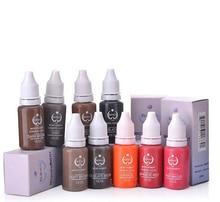 Tätowierungs-Tinten-Permanent Make-upaugenbrauen-Eyeliner-Pigment 10pcs benutzt für manuellen Stift oder dauerhafte Verfassungs-Maschine