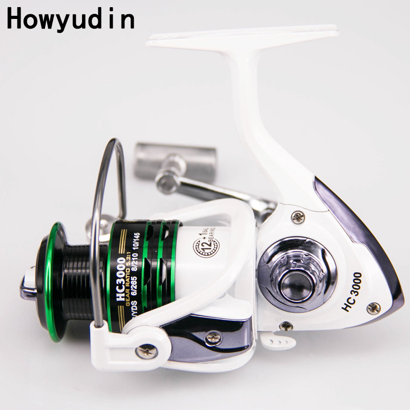 12+1BB HC1000-7000 spinning reel Without clearance carretilha Smooth handle fishing reel Two color cup fishing reels molinete