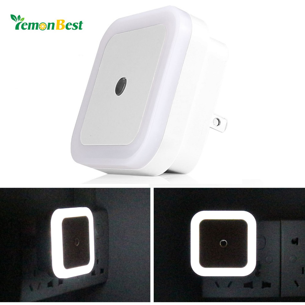 Night Automatic Light Sensor Mini LED Night Light Bedside Light Wall Lamp US and EU Plug herramientas para el aseo de la casa
